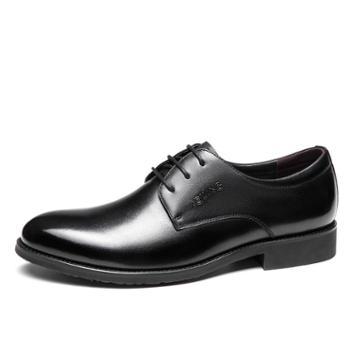 奥康Aokang男鞋 男士商务正装系带英伦皮鞋耐磨软面真皮舒适鞋子