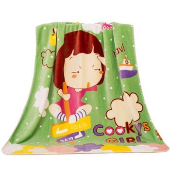 凯诗风尚绒毯儿童加厚毛毯可爱卡通法兰绒毯幼儿园盖毯办公室盖毯