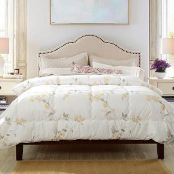 凯诗风尚冬被水墨系列舒适全棉大豆纤维被芯加大舒适秋冬被床上用品