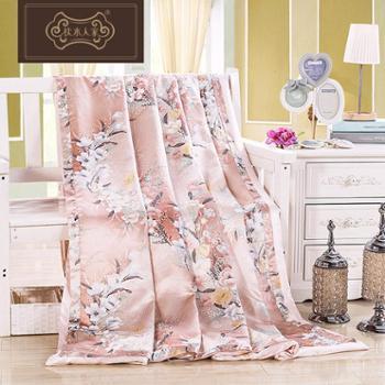 枕水人家真丝被套双面100%桑蚕丝床品件套丝绸被罩床上用品