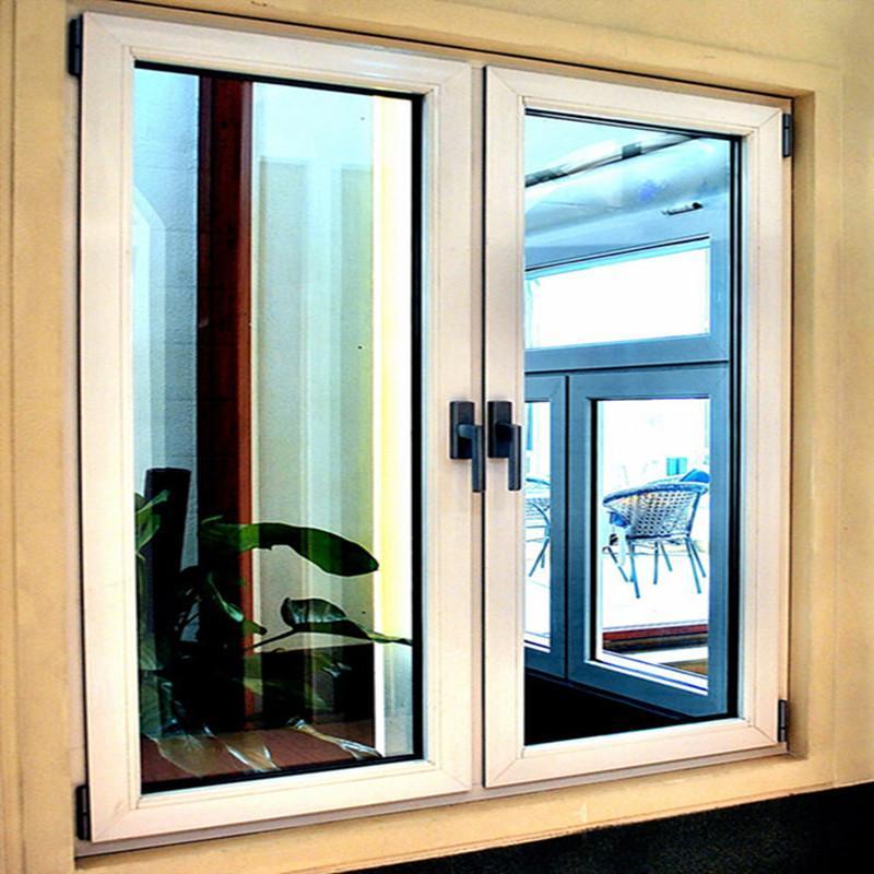 断桥铝平开窗 双层玻璃