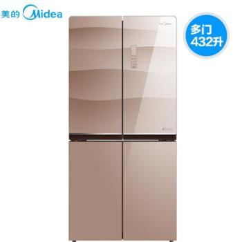 Midea美的 BCD-432WGPZM十字对开门变频智能家用无霜节能电冰箱
