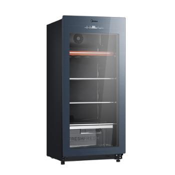 美的JC-140GEM母乳大容量冰柜冰吧家用节能客厅透明