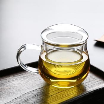 明尚德胖胖杯带茶漏男女士花茶杯泡茶杯带盖带茶漏