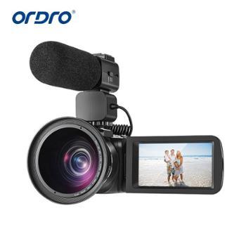 Ordro/欧达 Z82摄像机高清 4K超广角光学变焦镜头商务婚庆防抖