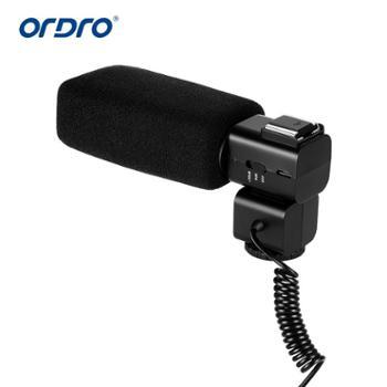 摄像机配件立体声麦克风双声道可充电热靴扩音器CM530