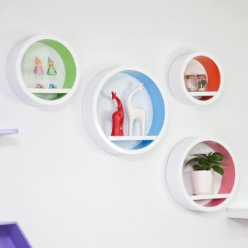 自由色彩搁板电视背景墙壁挂创意家居置物架装饰架装饰搁