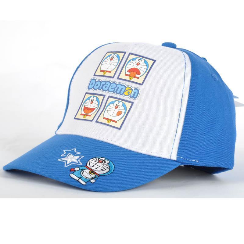 日版时尚哆啦a梦潮男女鸭舌帽 机器猫卡通防晒遮阳儿童帽子