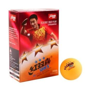 红双喜(黄)三星40mm乒乓球1840AY(新老包装 随机发货 6个/盒) 1盒