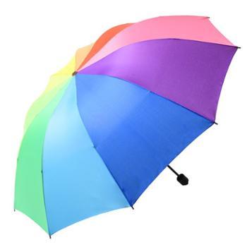 羚羊早安防晒晴雨两用伞(zys303)彩虹伞