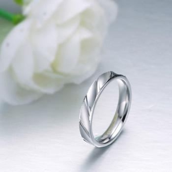 S925银情侣对戒 纯银女戒指 正品 素银戒指 纯银男戒
