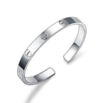 足银手镯螺丝手镯减号时尚欧美气质手镯手环