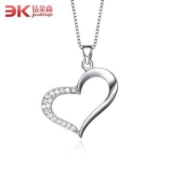 925纯银女项链 爱心心形银吊坠首饰时尚送礼 爱心吊坠项链