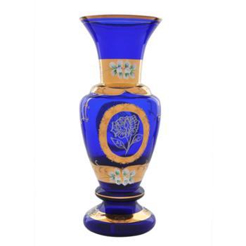 红海玻璃蓝色妖姬花瓶纯手工工艺品艺术品创意礼品饰品居家摆件