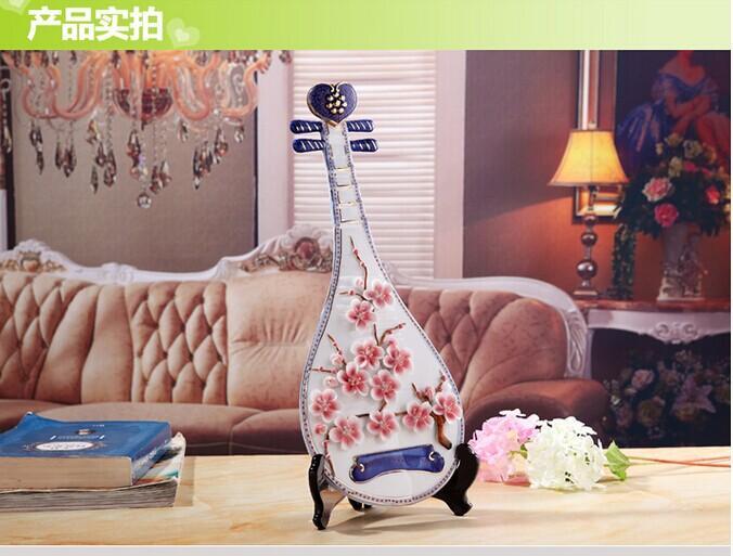 联达陶瓷 创意时尚家居装饰陶瓷器工艺品摆件客厅电视柜摆设结婚礼物图片