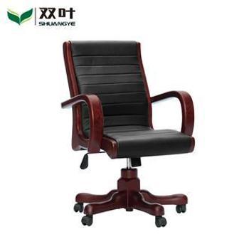 双叶家具 现代中式 水曲柳实木转椅班椅