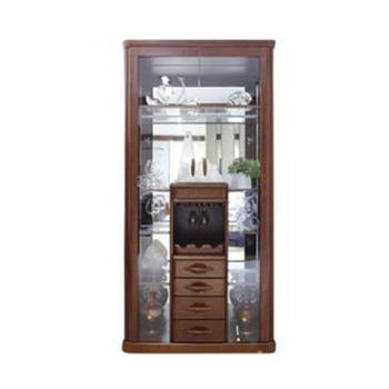 双叶家具 双叶实木 现代中式实木酒柜