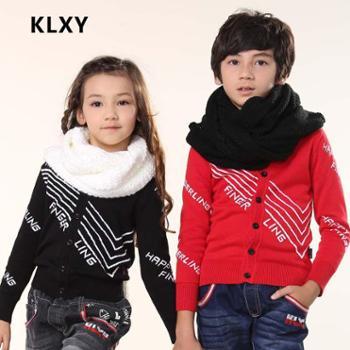 新款时尚毛衣全棉针织衫欧韩时尚品牌童装保暖羊毛衫开衫毛衣外套