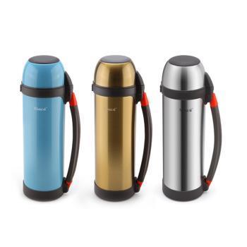 兴财不锈钢真空保温瓶 户外旅游壶 暖壶 暖瓶保温壶 1.2L
