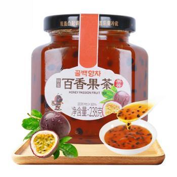 花圣蜂蜜百香果茶238gX2瓶 水果冲饮茶