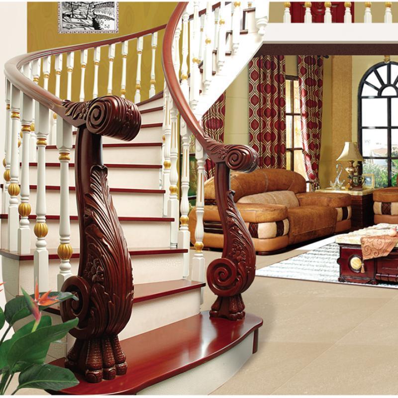 实木楼梯 弧型梯 木制楼梯