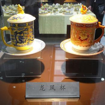 硅苑科技国宾礼中国龙收藏级龙凤杯4件套(龙凤呈祥)