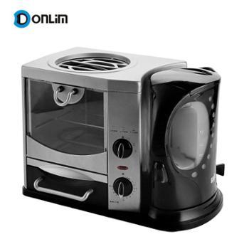 Donlim/东菱MF-Y401早餐机水煲烤箱煎盘三合一带煎盘烤盘屑盘储柜