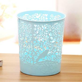 【橙屋】创意镂空垃圾桶 办公家用塑料卫生桶厨房卫生间不带盖卫生桶 超值