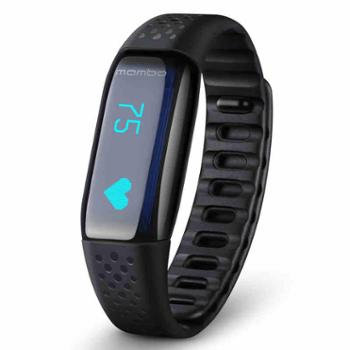 【橙屋】乐心智能心率手环MAMBO HR 来电显示 震动提醒 计步 防水 微信互联 黑色