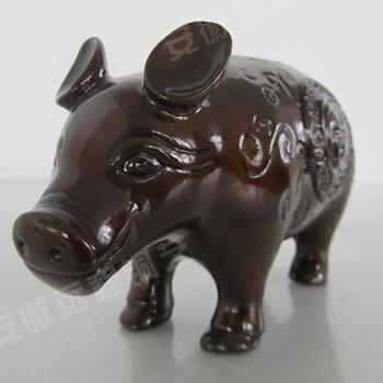 远程铜艺十二生肖之【生肖猪】高档铜工艺品铜像铜摆件