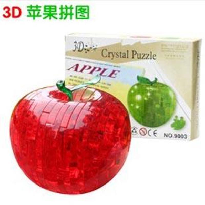 3d立体苹果水晶拼图 diy拼装积木