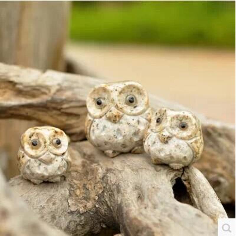 石雕工艺品精动物雕刻猫头鹰