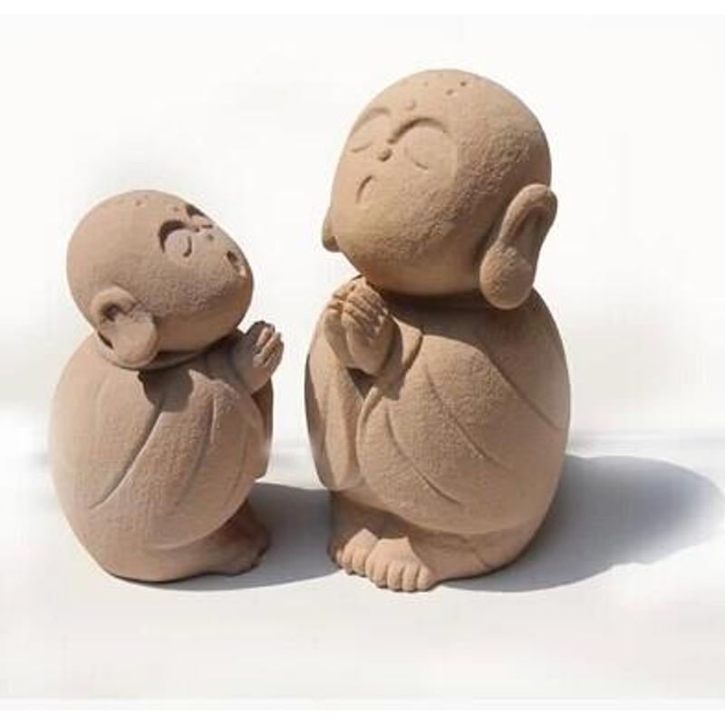 石雕工艺品小和尚可爱摆件