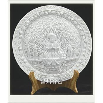 昌州石艺千手观音佛像石刻汉白玉石雕精品工艺品居家饰品摆件旅游纪念