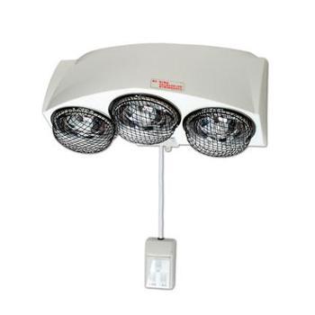 多丽NSB-9三灯浴霸壁挂式取暖防爆灯浴多功能照明安全网罩浴室