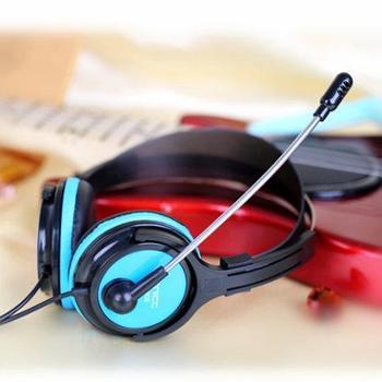声丽ST-908台式电脑耳机头戴式耳麦游戏网吧带麦克风重低音话筒