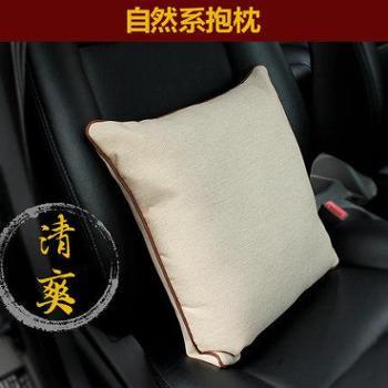 汽车腰靠汽车抱枕车内靠枕车用抱枕可爱四季护腰靠垫车枕头单个
