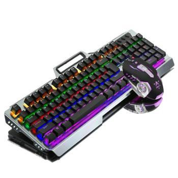 如意鸟电竞游戏机械键盘鼠标套装青轴黑轴USB电脑有线键鼠外设lol