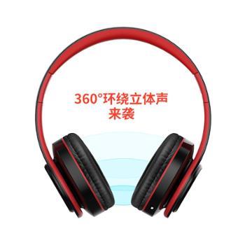 首望L6X蓝牙耳机头戴式无线游戏运动型跑步耳麦电脑手机男女通用插卡音乐重低音超长待机可接听电话