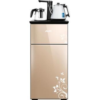 奥克斯冷热家用饮水机全自动上水防烫儿童锁桶装水温热智能茶吧机