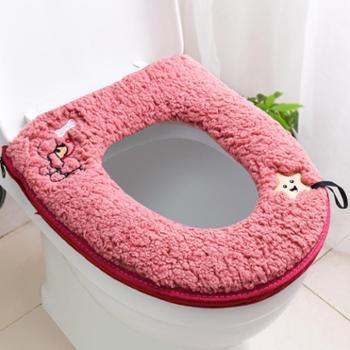 冬季马桶垫坐垫家用防水座便器垫子保暖加厚加绒拉链坐便套圈通用