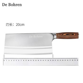 DeBohren菜刀德国厨师专用切片刀家用切菜刀不锈钢厨房刀具砍骨刀