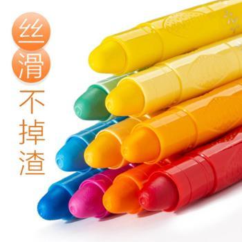 真彩油画棒儿童48色36色旋转炫彩棒幼儿园丝滑水溶性宝宝小学生彩绘棒安全无异味可水洗24色蜡笔画笔套装