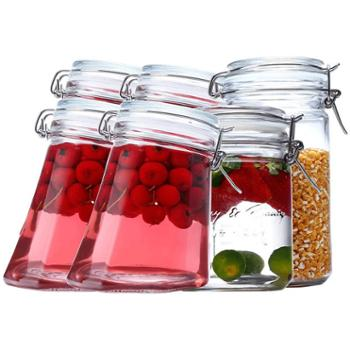 scybe喜碧玻璃密封罐储物罐玻璃瓶酿酒罐奶粉盒透明酵素瓶泡酒瓶