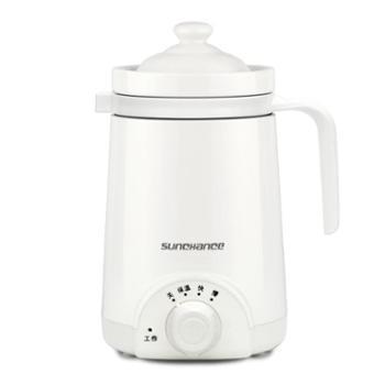 sunchanceD2陶瓷养生杯迷你电热水杯办公室煮粥杯热牛奶电炖杯