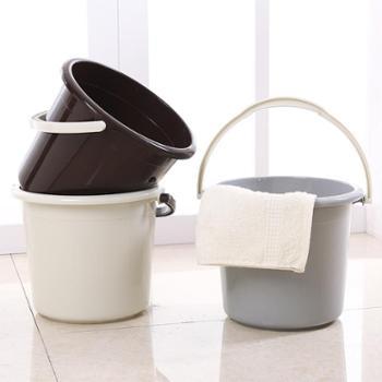3个装小号塑料水桶手提圆形加厚迷你装水储水桶收纳桶家用