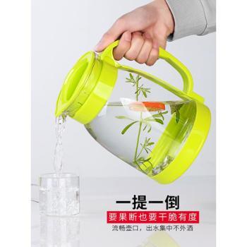 冷水壶大容量玻璃耐高温花茶壶套装家用果汁壶防爆凉白开水凉水壶