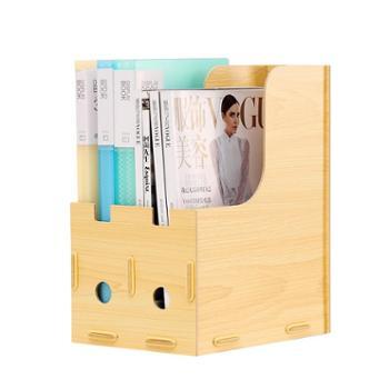 文件架书架办公用品桌上办公桌学生桌面文件资料架办公室收纳架文件夹收纳盒简易木质置物架加厚多层文件框筐