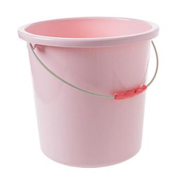 居家家手提小水桶家用加厚圆桶塑料桶洗衣桶