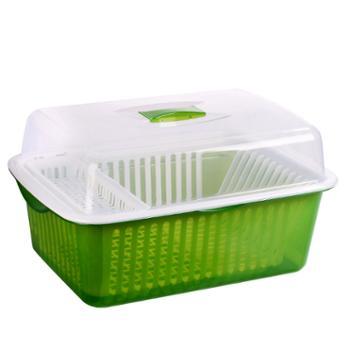 厨房碗柜塑料沥水碗架带盖装碗筷收纳箱